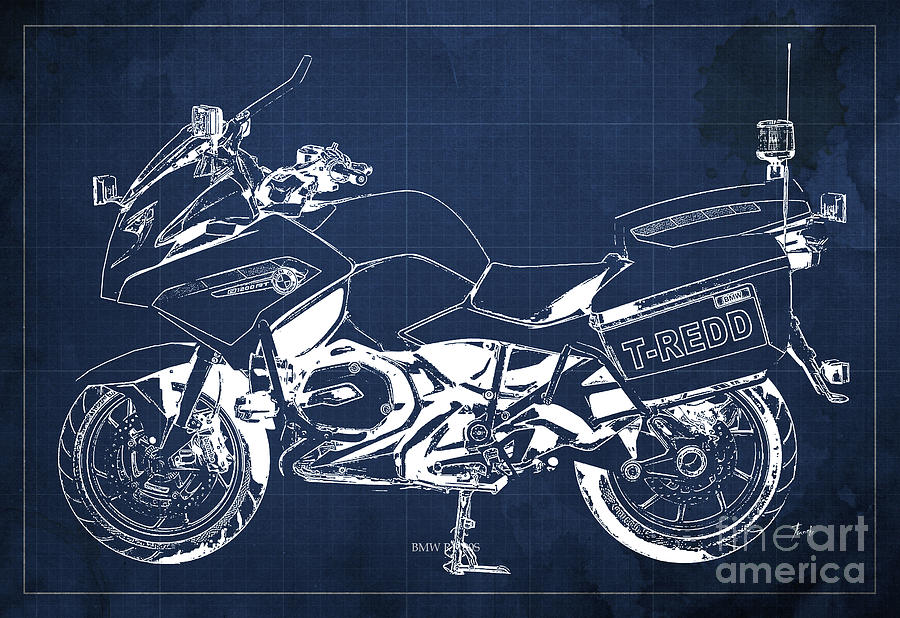 Bmw rt1200 police blueprint mixed media by pablo franchi bmw mixed media bmw rt1200 police blueprint by pablo franchi malvernweather Image collections