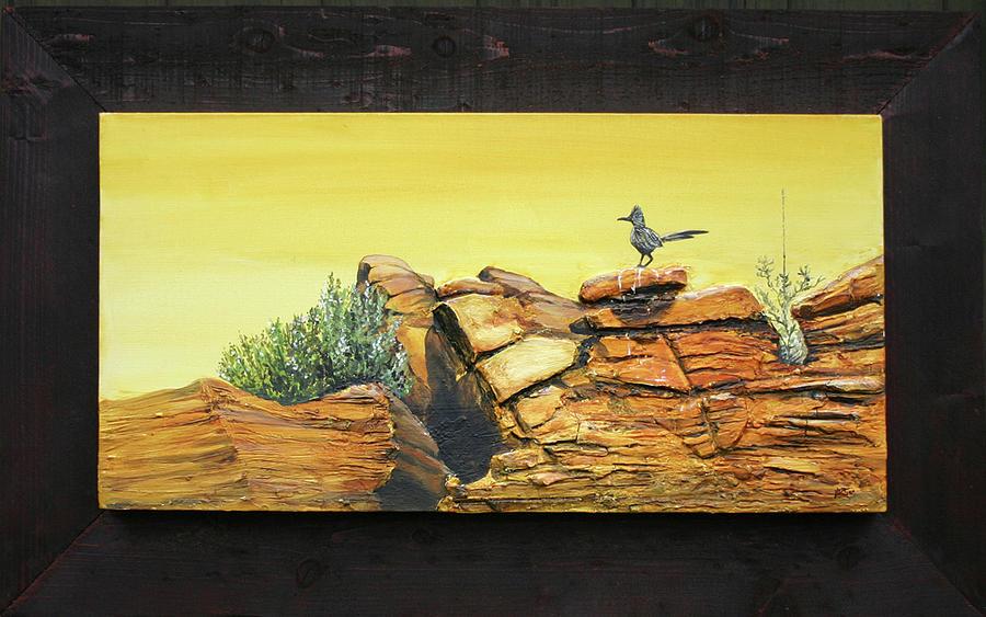 Roadrunner Painting - Bneep Bneep by Gregory Peters