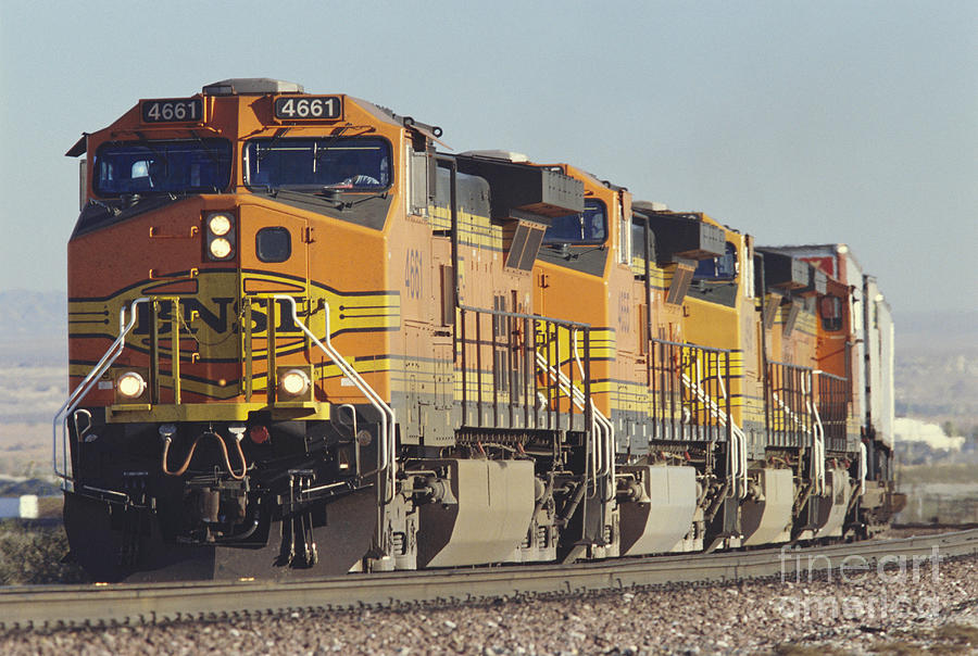Transportation Photograph - Bnsf Freight Train by Richard R Hansen and Photo Researchers