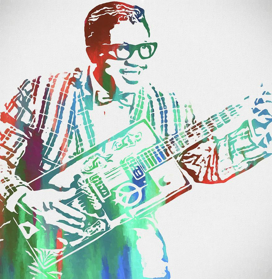 Bo Diddley Painting - Bo Diddley Watercolor by Dan Sproul