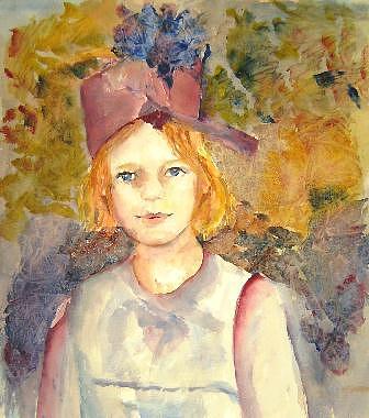 Watercolors Painting - Bo by Gilberte Vermeulen