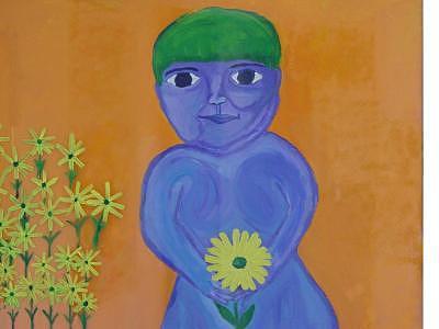 Green Painting - Bo by Jodi Drinkwater
