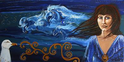 Iceni Painting - Boadicea by Ana M  Berry