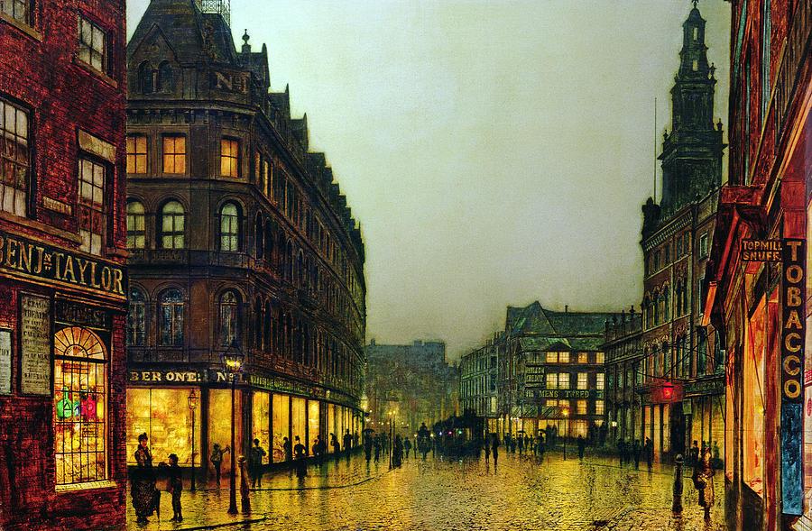 Leeds Painting - Boar Lane by John Atkinson Grimshaw