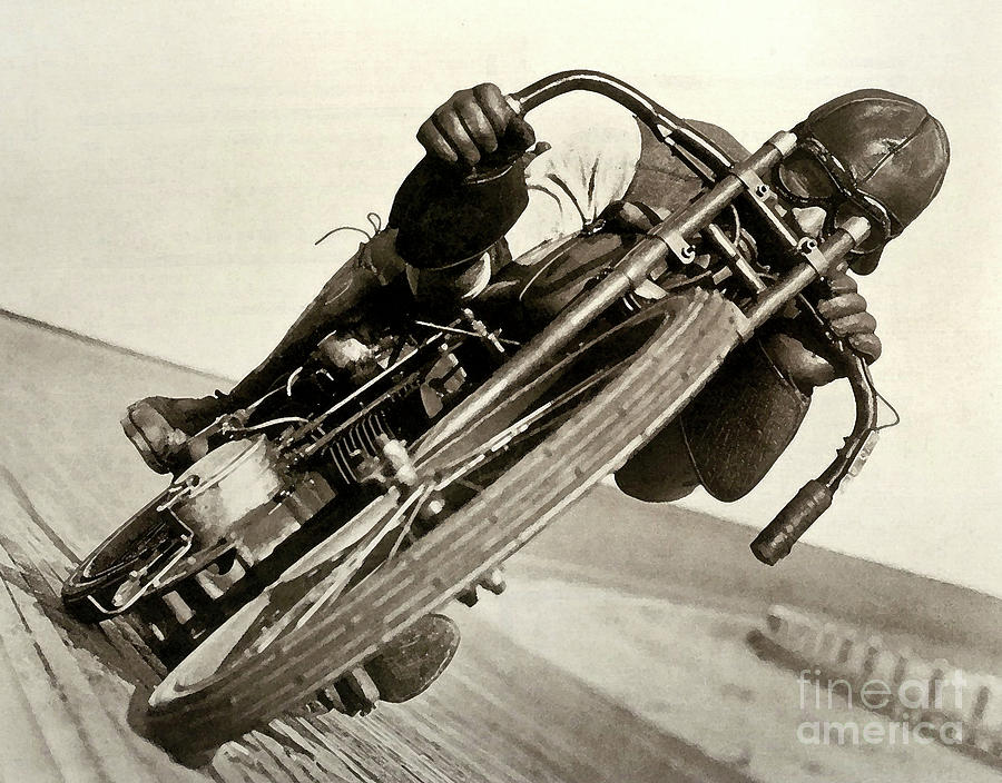 Motorcycle Photograph - Board Track Racer, 1921, motorcycle vintage by Thomas Pollart