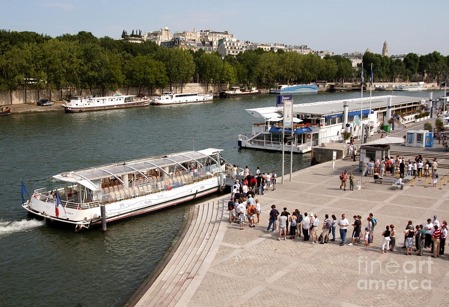 Bateau Mouche Photograph - Boarding The Bateaux Mouches by Andy Smy