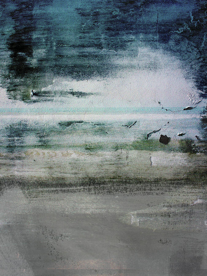 Abstract Mixed Media - Boardwalk Blues 2- Art by Linda Woods by Linda Woods