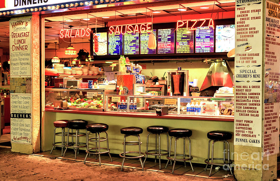 Boardwalk Dining Photograph - Boardwalk Dining Colors At Wildwood by John Rizzuto