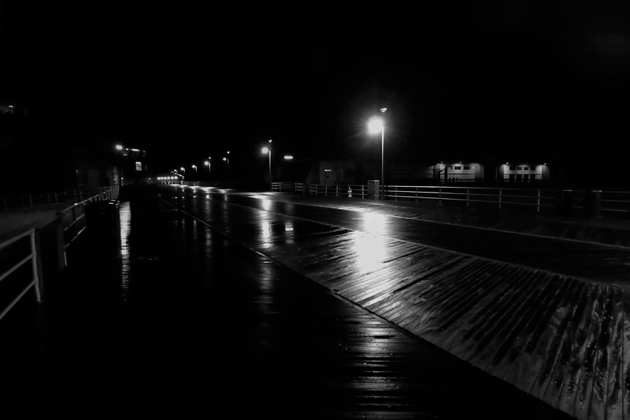 Atlantic City Photograph - Boardwalk In The Still Of The Night by Jason Denis
