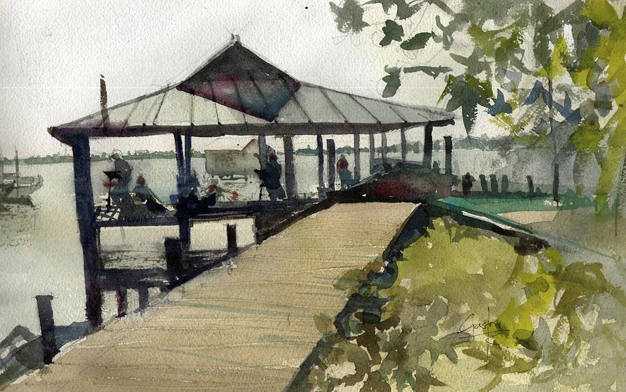 Boardwalk Painting - Boardwalk Sarasota by Gaston McKenzie