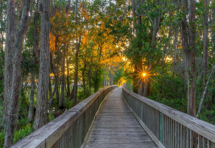 Tampa Bay Photograph - Boardwalk Sunset by Lance Raab