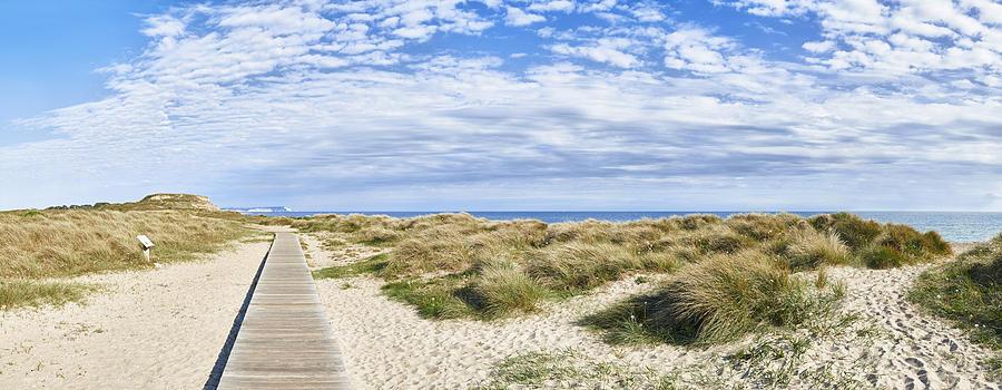 Boardwalk to Hengistbury Head by Adrian Brockwell