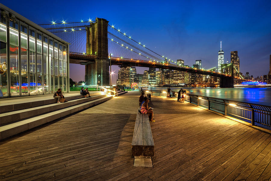 Brooklyn Bridge Park Photograph - Boardwalk View At Brooklyn Bridge Park by Daniel Portalatin