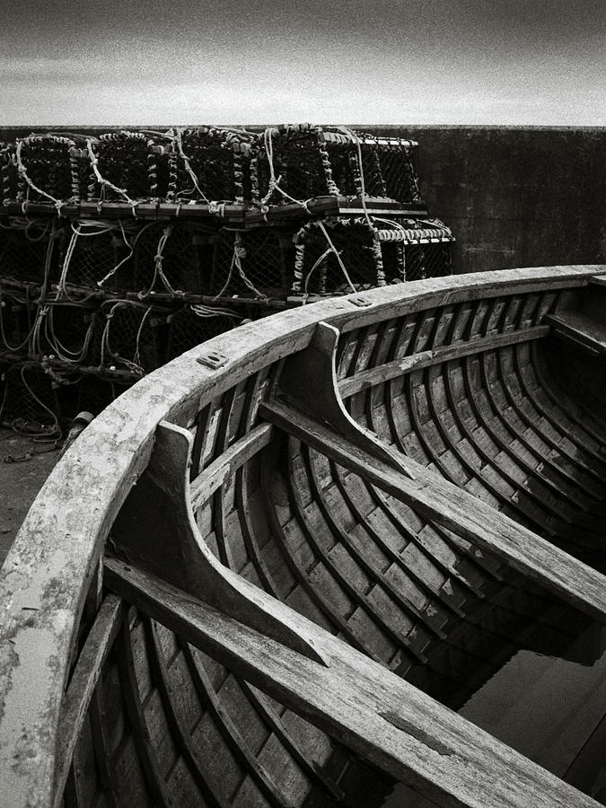 Boat And Creel Nets Photograph