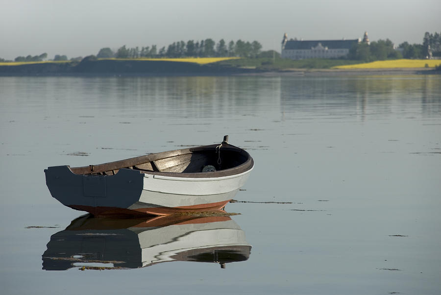 Boat Photograph - Boat And Reflection by Robert Lacy