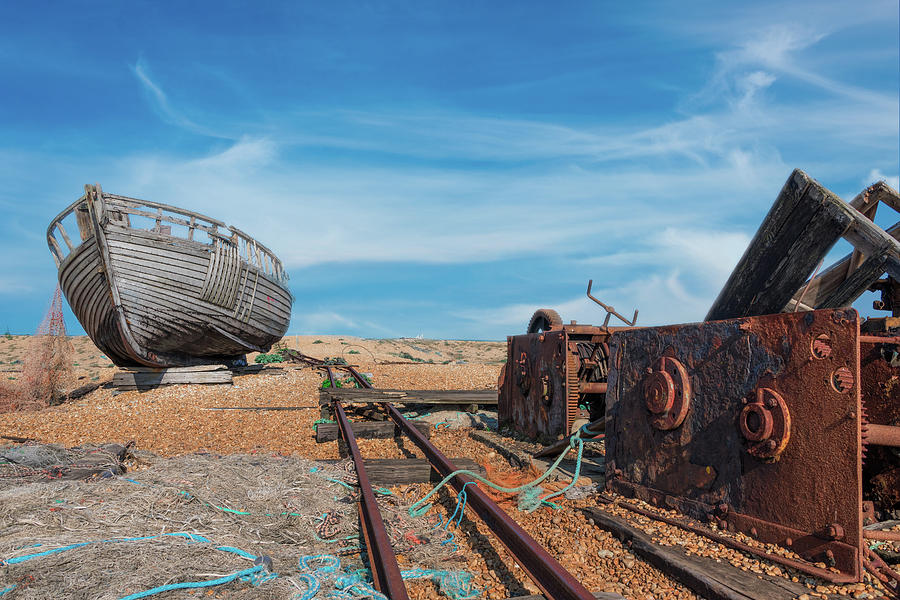 Boat and Rusty Winch by Roy Pedersen