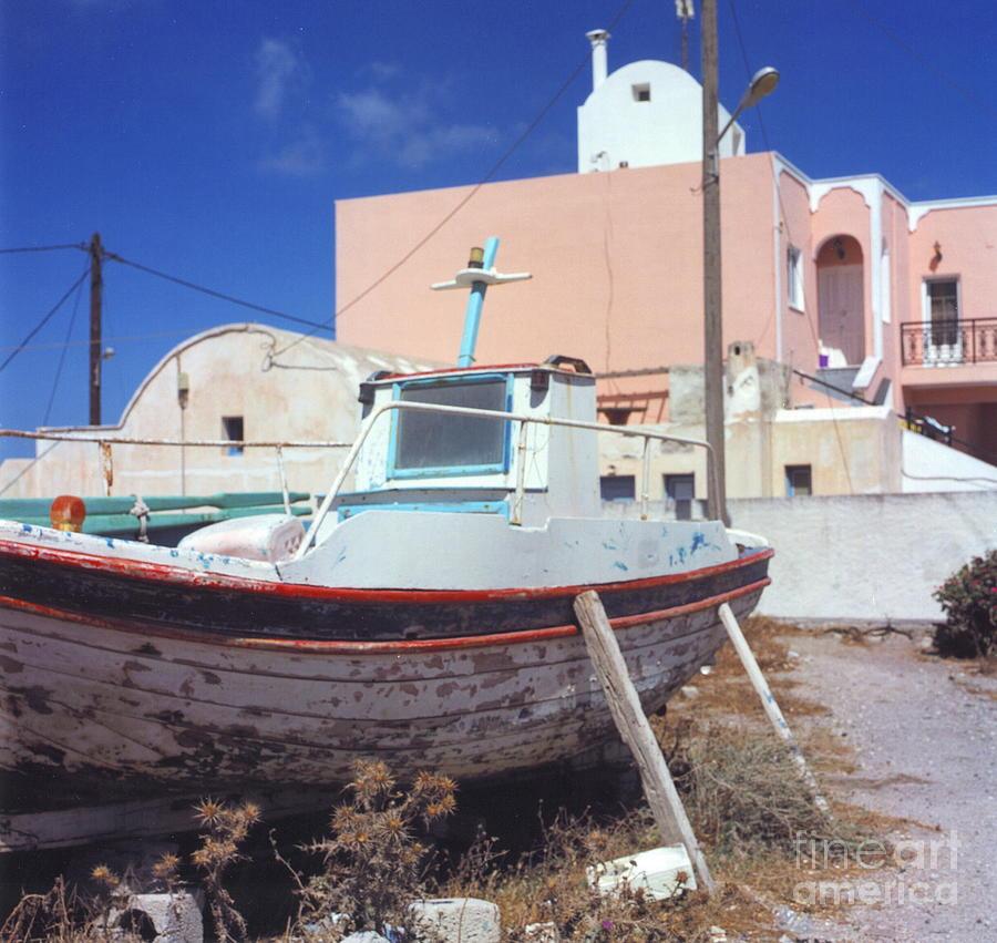 Santorini Photograph - Boat by Andrea Simon