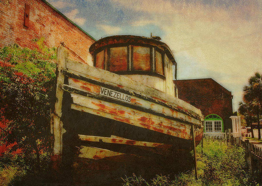 Boat Photograph - Boat At Apalachicola by Toni Hopper