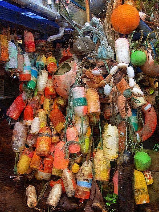 Crab Pot Buoys by Thom Zehrfeld
