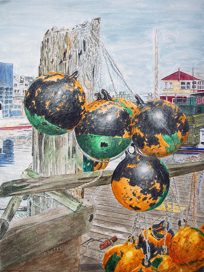 Waterfront Painting - Boat Bumpers by Dominic White