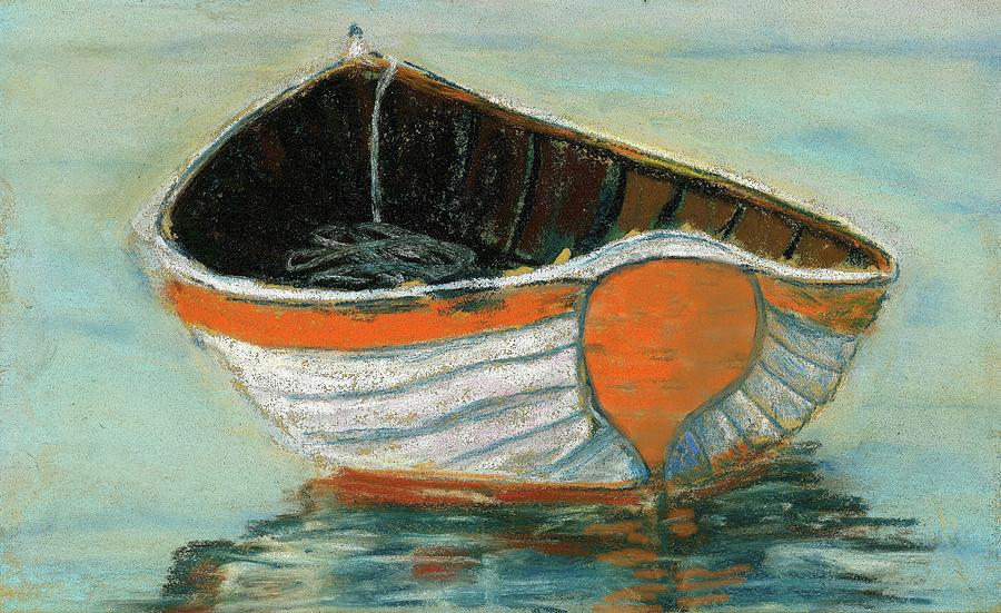 Antique Pastel - Boat by Grace Fong by Grace Fong