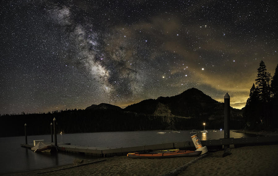 Astrophotography Photograph - Boat Camp by Tony Fuentes