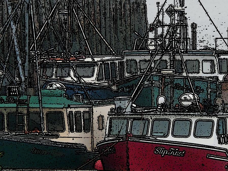 Montreal Digital Art - Boat City 2 by Roger Charlebois