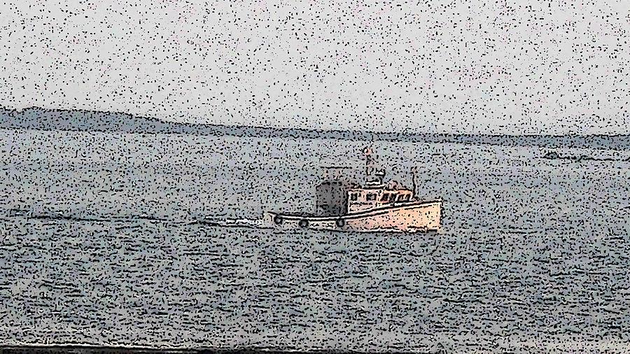 Boat Digital Art - Boat City  by Roger Charlebois