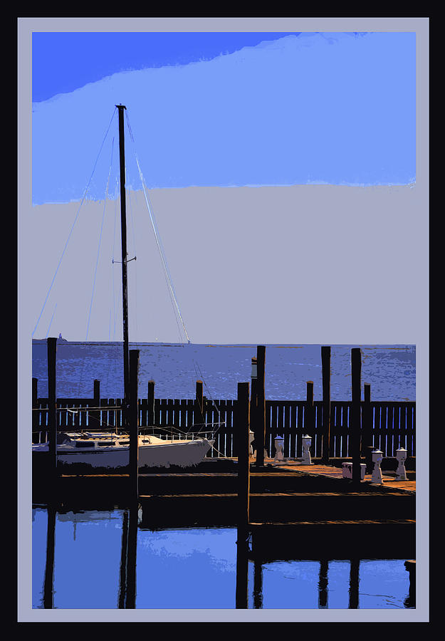 Waterscapes Photograph - Boat  Dock  In  Blue by Linwood Branham
