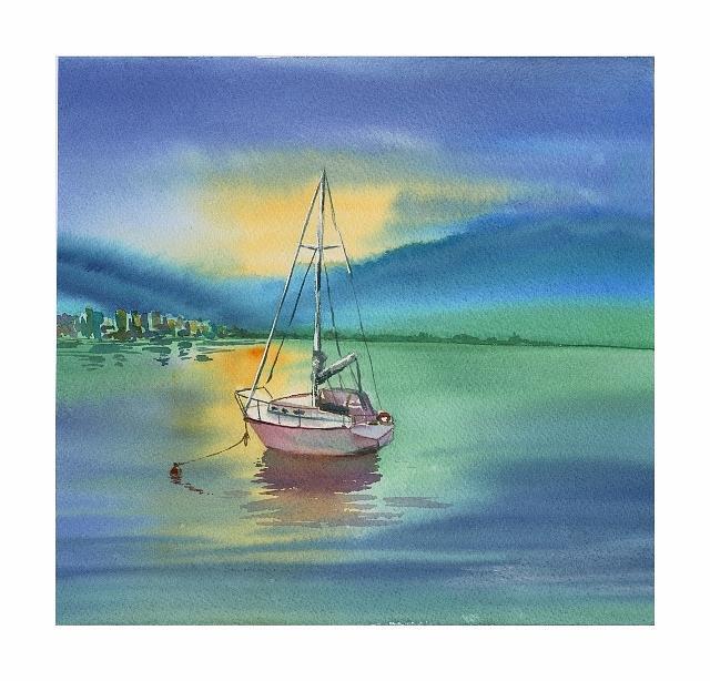 Boat Painting - Boat by Elena Mahoney