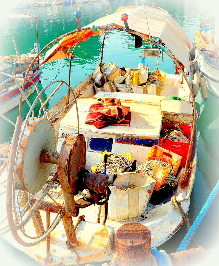 Boat Photograph - Enter My Boat And Lets Go Away From It All And Never Look Back  by Hilde Widerberg