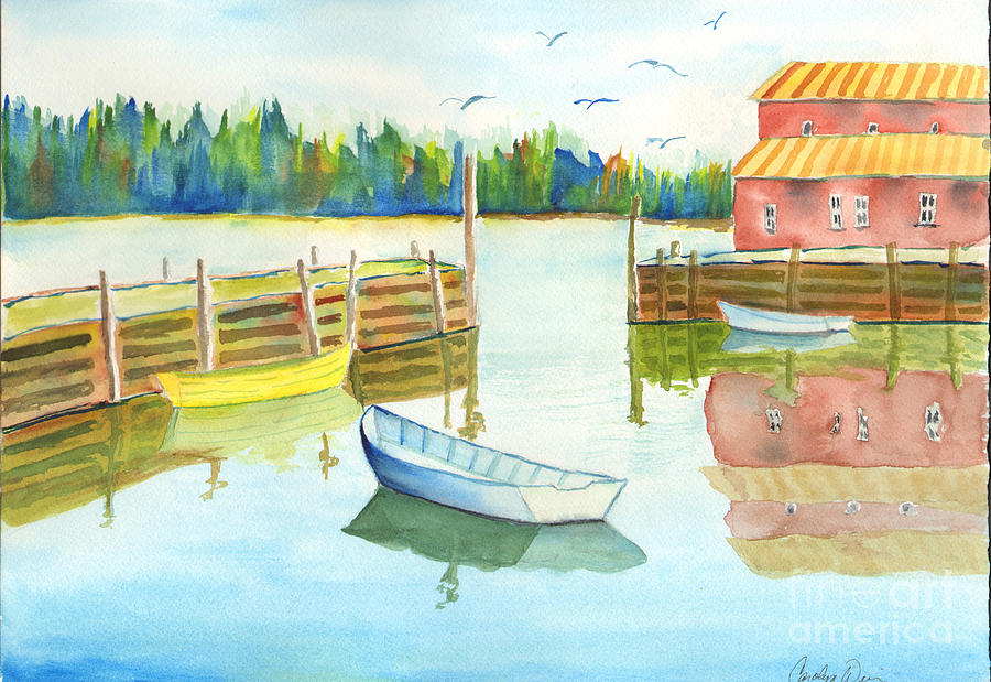 Boat Painting - Boat House by Carolyn Weir