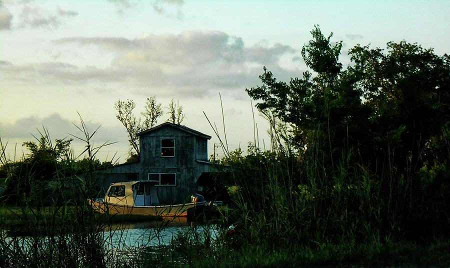 Boats Photograph - Boat House by Cynthia Powell