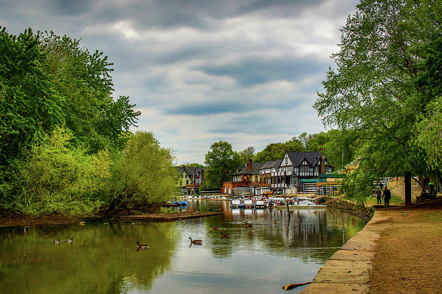 Boats Photograph - Boat House Row Two by Howard Roberts