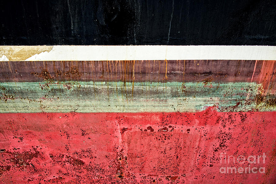 Stripes Photograph - Boat Hull by Delphimages Photo Creations