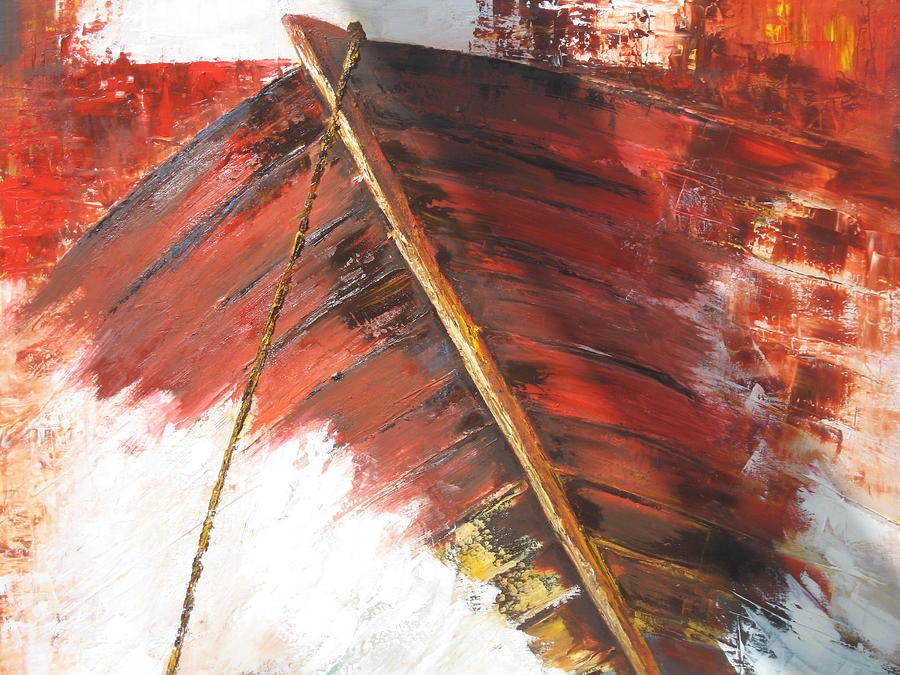 Boat Painting - boat In  Storm by Marina Harris