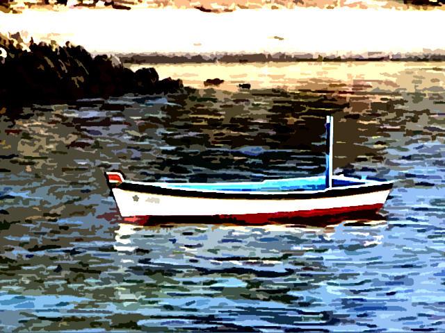Boat Photograph - Boat In The Arabian Sea by Padamvir Singh