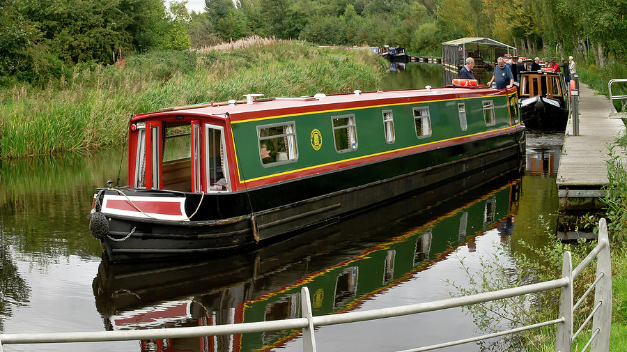 Boat In The Forth And Clyde Canal At The Falkirk Wheel Photograph