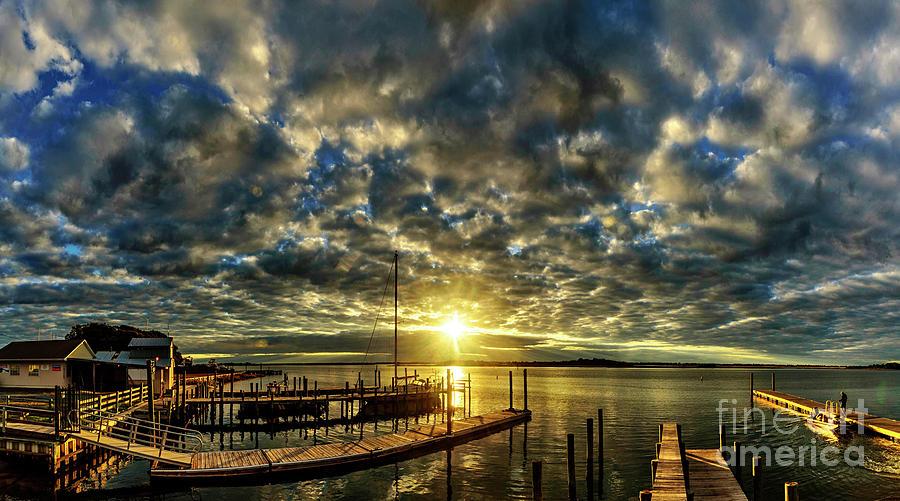 Sunrise Photograph - Boat Launch Sunrise by DJA Images