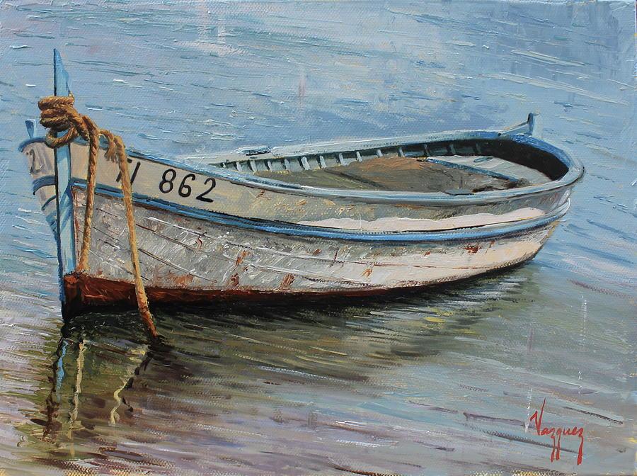 крупного картина с лодками название последнее