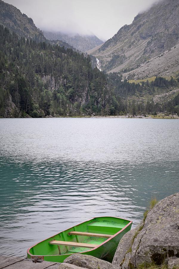 Boat On A Lake In The Pyrenees Photograph