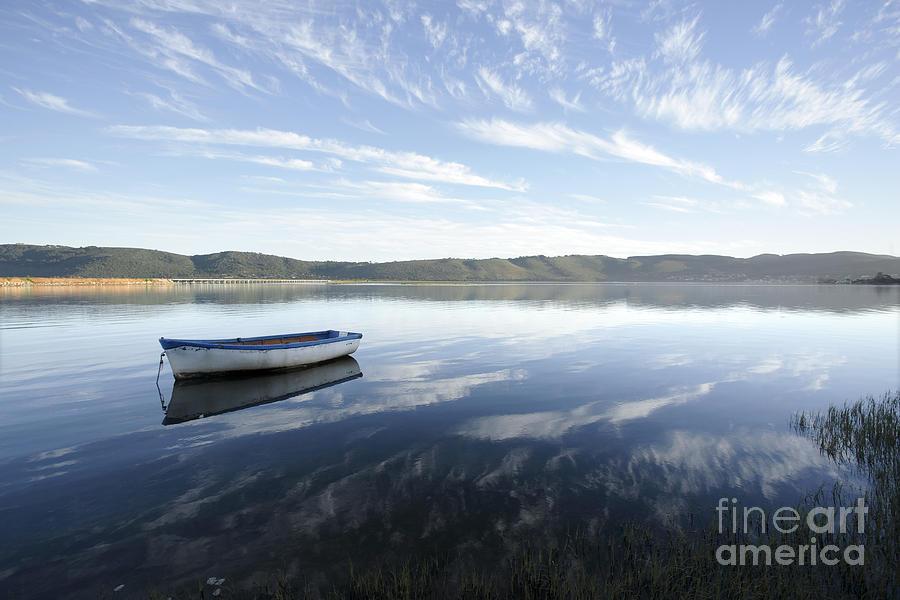 Boat Photograph - Boat On Knysna Lagoon by Neil Overy