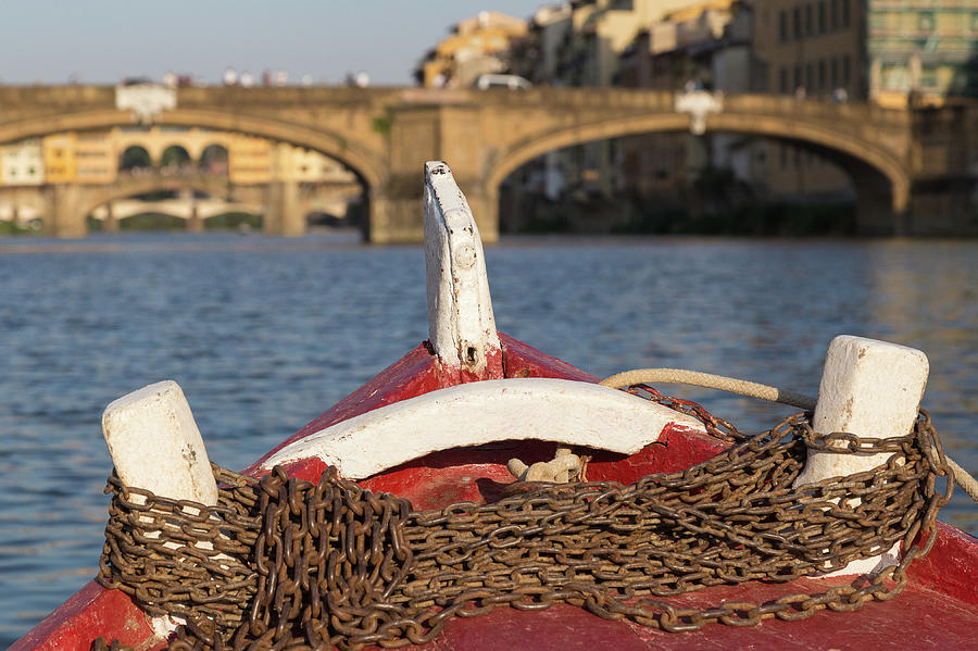 Boat on the Arno River,  by Patricia Schaefer