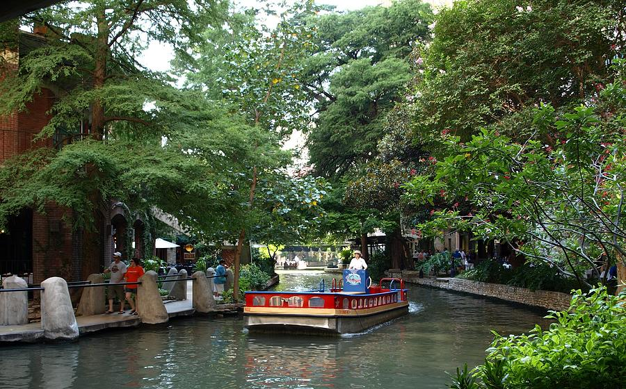 Boat Photograph - Boat On The San Antonio River by Dennis Stein