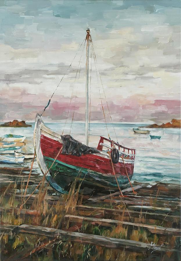 Boat on the Shore by Maria Arnaudova