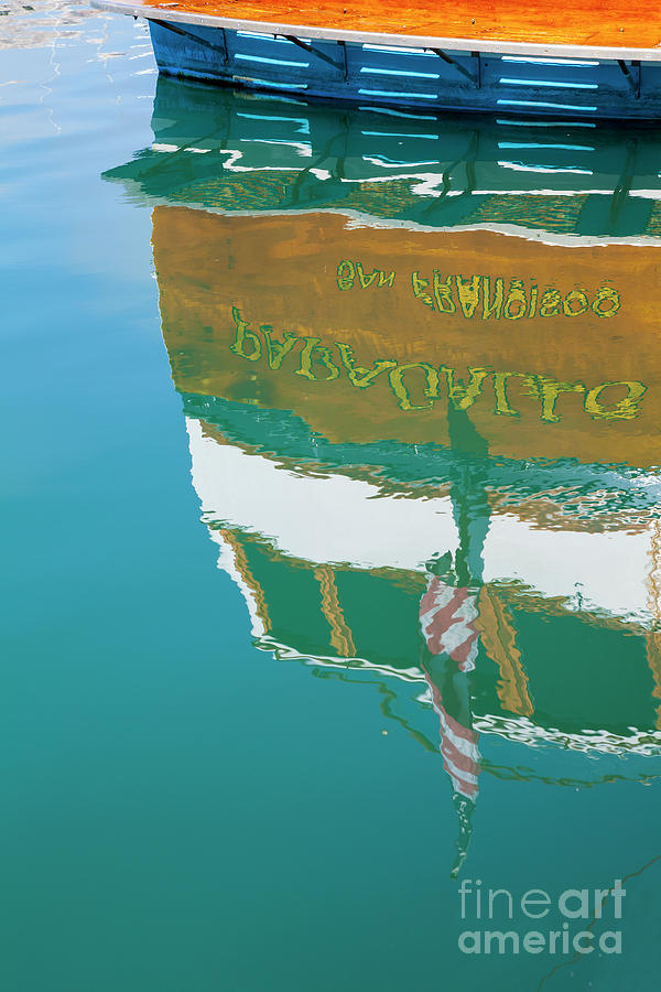 Water Photograph - Boat Reflection In Water  by Sharon Foelz