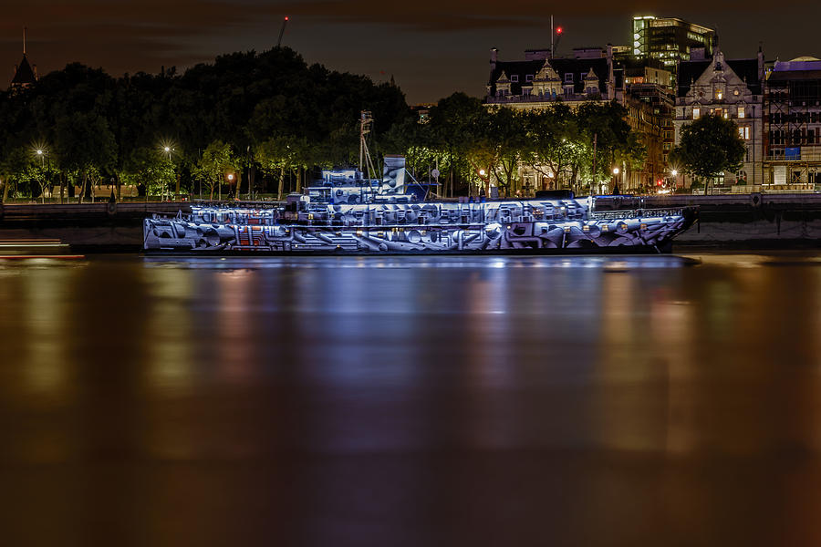 London Photograph - Boat Restaurant  by Ivelin Donchev
