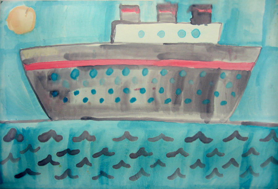 Boat Painting - Boat by Sean Cusack