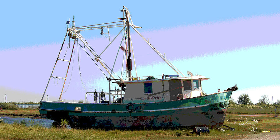 Boats Photograph - Boat Series 5 West Pointe A La Hache 2 Grounded by Paul Gaj