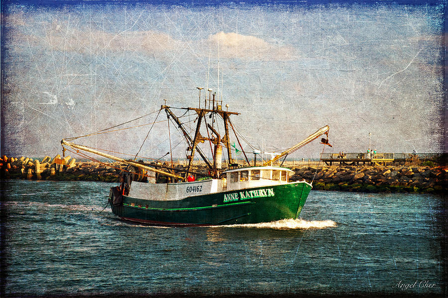 Boat Photograph - Boat Texture Manasquan Inlet by Angel Cher